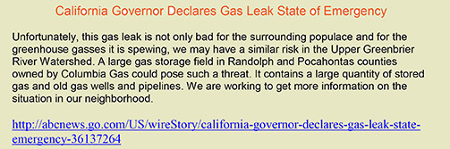 Gas Leak Health Hazard