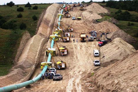 42 inch pipeline construction